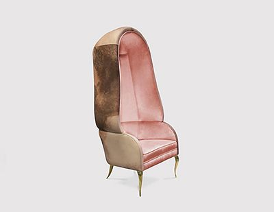 CHANDRA, luxury chair is both bold and daring. The fabulous chair, CHANDRA exudes the feeling of vintage glam.