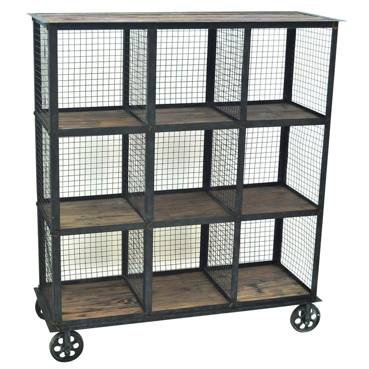 """Crestview Collection Industria Metal and Wood 41.5"""" Cube Unit"""