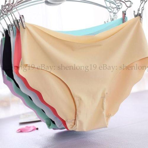 Mujeres Suave Ropa Interior Sin costura calzoncillos Hipster Ropa Interior  Bragas Hot Lencería 63d77d9b277d