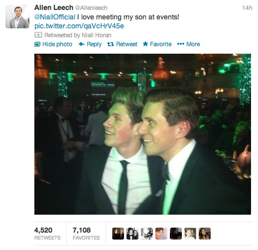 AH! Allen Leech called Niall his son! THIS IS THE GREATEST ...