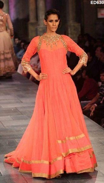 Elegante lange Anarkali Kameez Bridal von Kunsthandwerkfüralle auf DaWanda.com