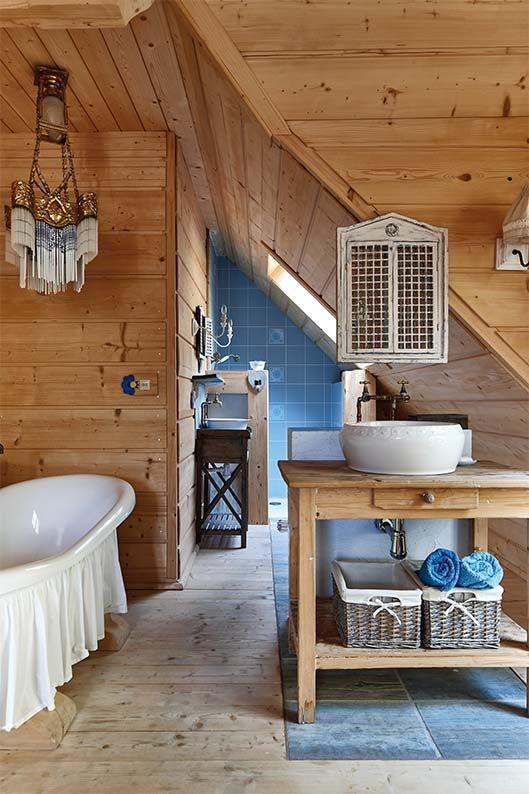 łazienka W Stylu Rustykalnym Domnawsi Stylcountry