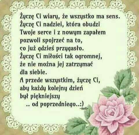 Pin By Alina Wrobel On Powiedzenia Inspirational Words Polish Quotes Birthday Wishes