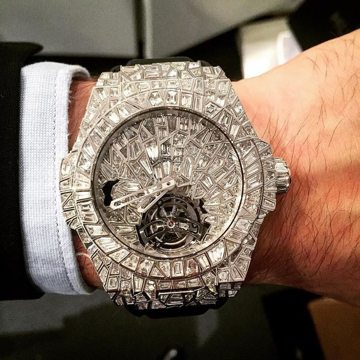 Hublot Big Bang Tourbillon watch in with baguette diamonds made in Switzerland.Talk about making a statement..love it/debs
