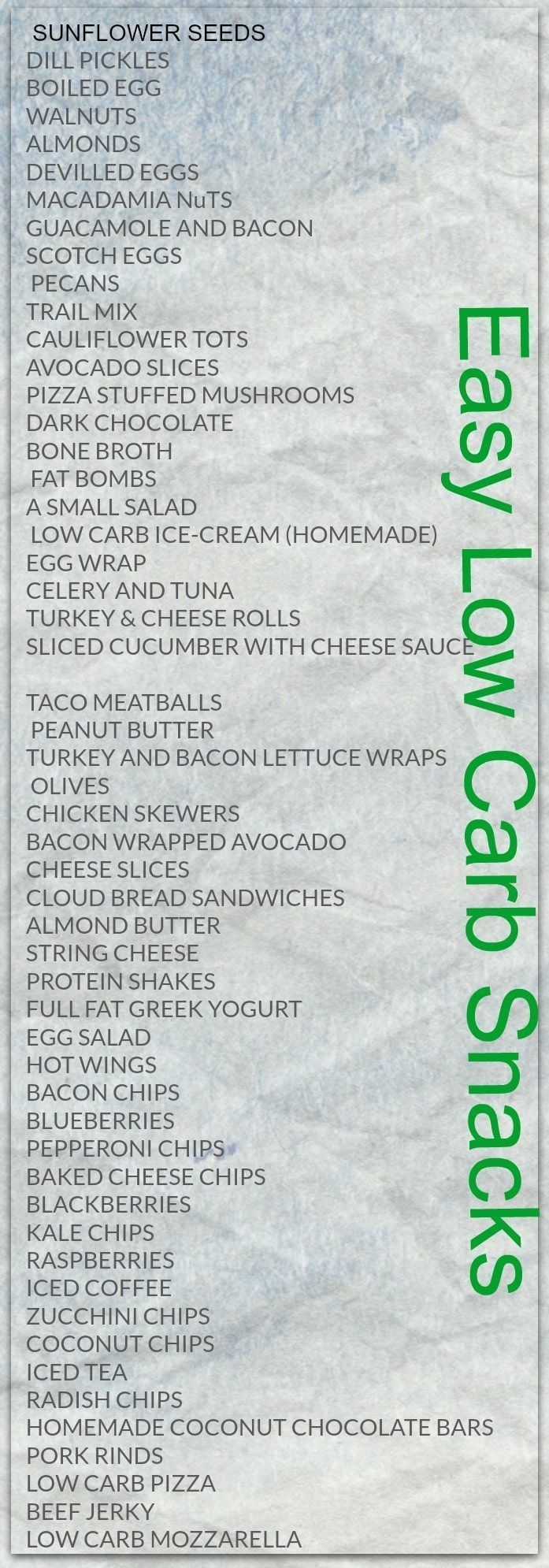 Easy low carb snacks for better health - lchf, keto, paleo. #carbswitch Please Repin