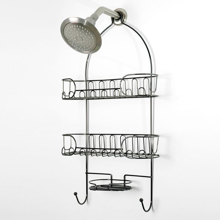 Semi Circle Shower Caddy In Black Nickel   BedBathandBeyond.com