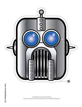 Robot Mask Printable Mask