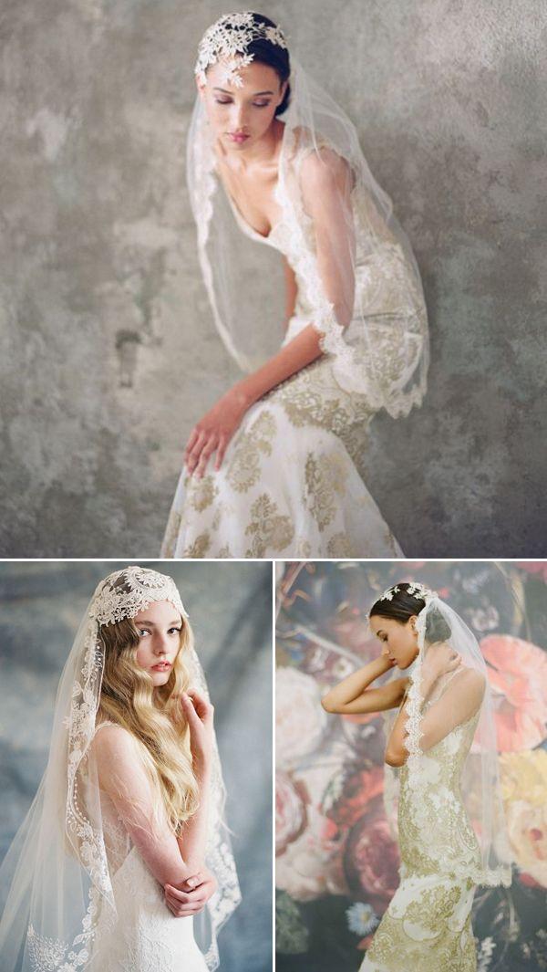 25 Stunning Lace Veils for Stylish Brides - Claire Pettibone!