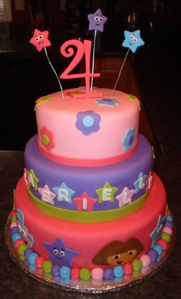 Dora Party Ideas: Cake  Maybe I can get Carol Z to make this???  :)
