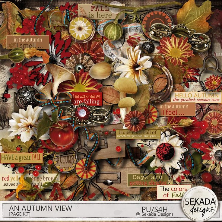 Digital Art :: Kits :: An Autumn View Page Kit