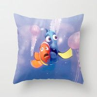 Finding Nemo Throw Pillow by Max Jones