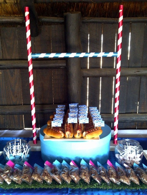 Rugby Goal Post Centrepiece