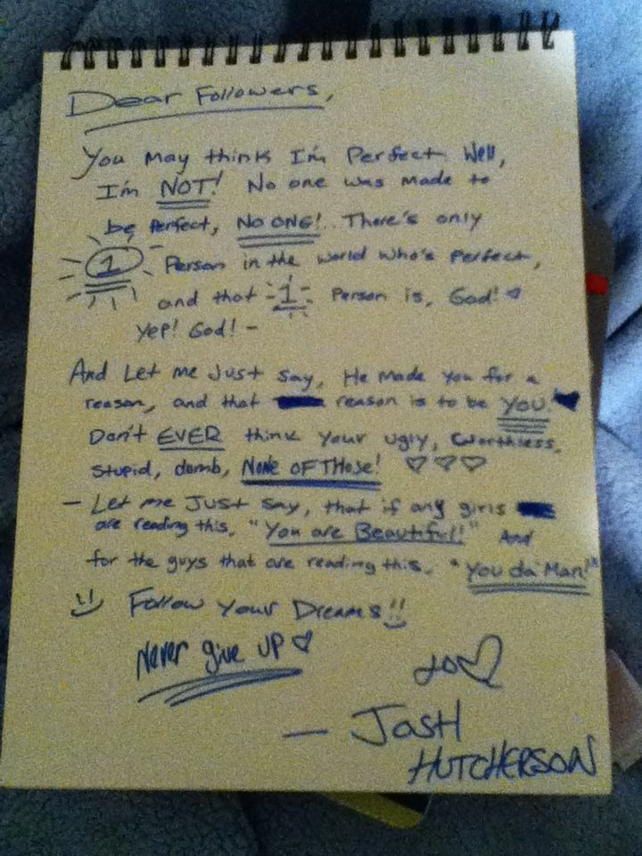 Josh is sweet <--- I'm not 100% sure that this is him but it's the thought that counts