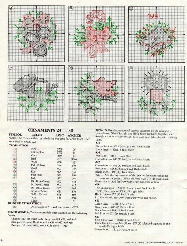 Schema punto croce Decorazione 2f