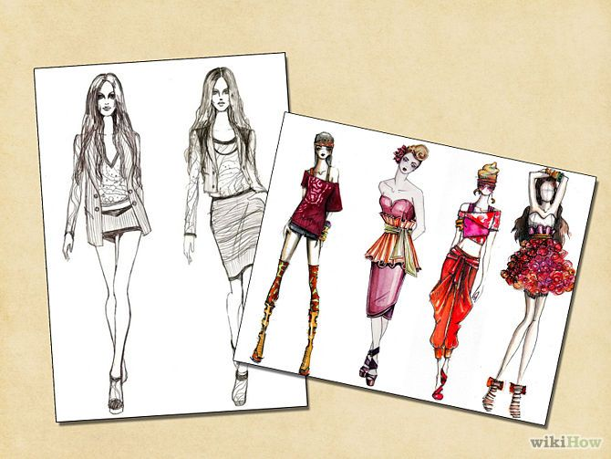 How to Draw Clothes on a Fashion Figure: 5 Steps (with ...