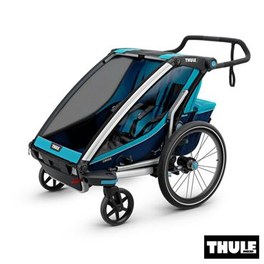 poussette double chez bebelelo laval et longueuil 1000$ www.bebelelo.com #thule #thulestroller #bluestroller #jogging