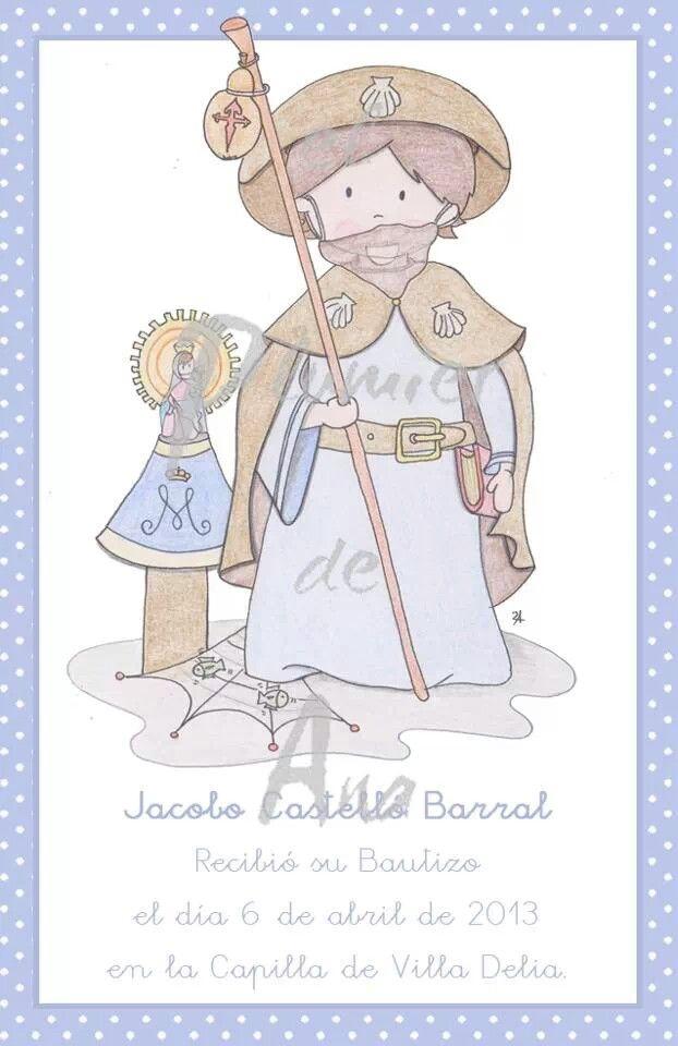 Para Jacobo dibujé a su Santo, el Apostol Santiago, para que siempre le cuide y le proteja.