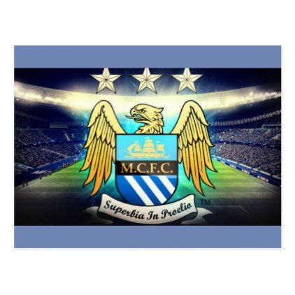 #Manchester City football Club postcard - #birthday #gifts #giftideas #present #party