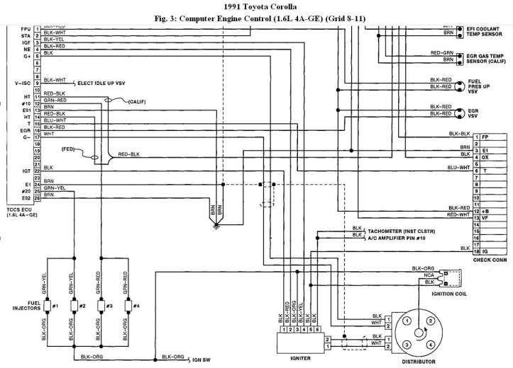 16 Engine Control Toyota 89661 Wiring, Corolla Wiring Diagram