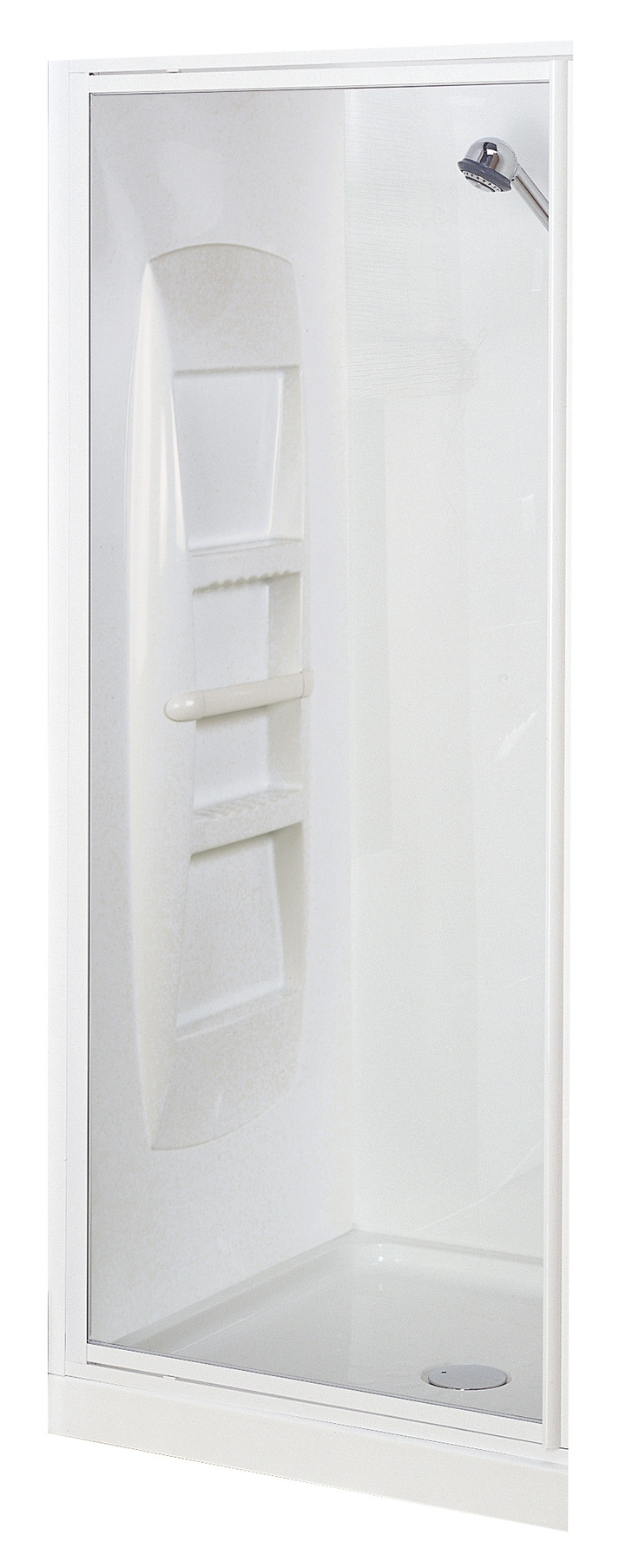 Englefield Sapphire Alcove Shower Enclosure - *The Sapphire Shower range ensures long-lasting performance with fully framed construction  *Fully reversible door in 4mm clear toughened safety glass  *Full-length magnetic door strip and seals for additional water tightness  *Quick-Fit® tray with a 40mm upstand provides greater water tightness  *Available in White frame  *Choose from 3 wall options: Side-contour, Corner-contour or Flat  **Available at Pecks Plumbing Plus Manukau!