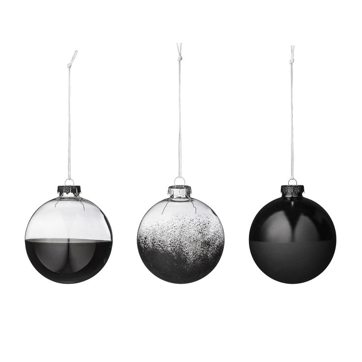 Boules de Noël teintée de noir Bloomingville : Déco de Noël : 40modèles…