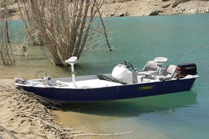 A bass pro promotes small boat fishing for bass small for Best small fishing boat