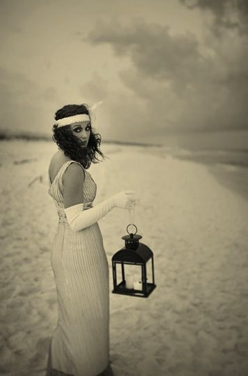 Vintage beach wedding. SO LOVE THIS PICTURE .. I WANT ONE ,
