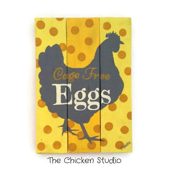 Egg Sign Kitchen Decor Chicken Coop Sign Modern Country