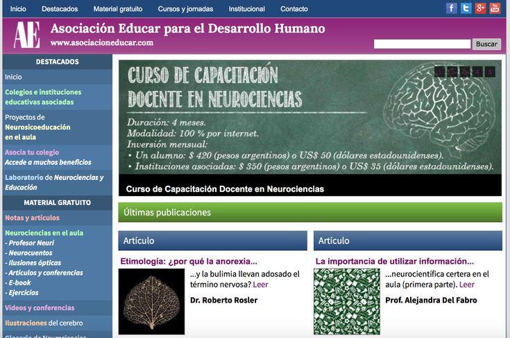 Principales páginas de neurociencia educativa.