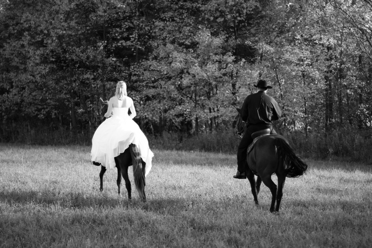 My favorite horse wedding picture!