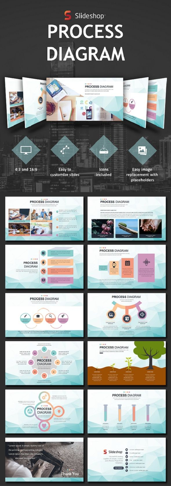 Process Diagram - PowerPoint Template