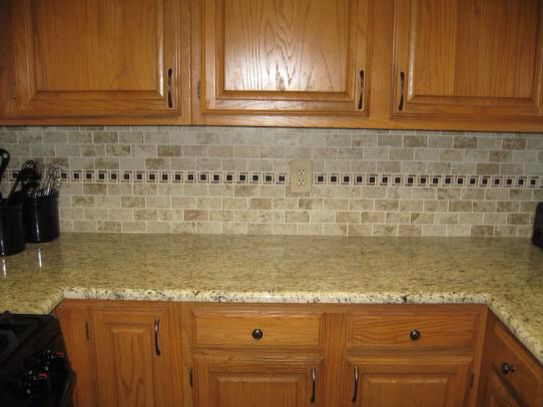 Home Depot Kitchen Wall Cabinets Montagna Cortina Backsplash From Home Depot And Giallo