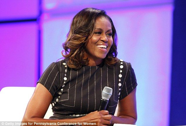 Former First Lady of the United States Michelle Obama speaks during Pennsylvania Conference For Women 2017 at Pennsylvania Convention Center Tuesday