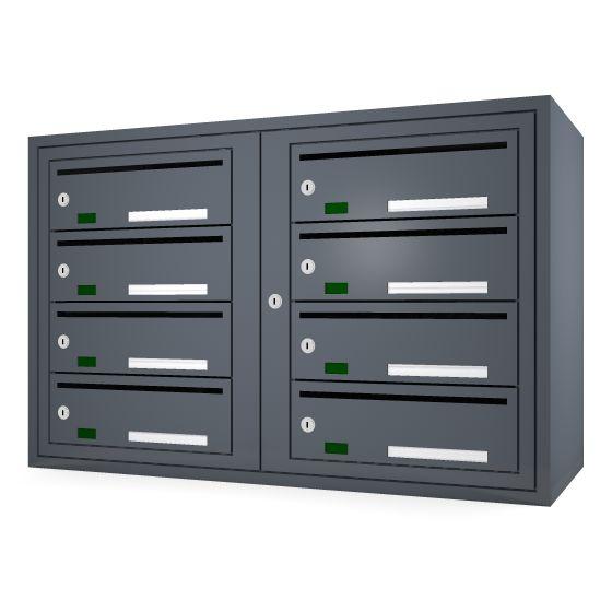 Svenskboxen 2x4  Article number:   SVB24-9995-1000    En komplett postbox med marknadens högsta säkerhetsklass. Svensk-boxen är förberedd för ellåsinstallation som standard och uppfyller användbarhetskraven från Bygg klokt för personer med funktions-nedsättningar.        Svenskboxen är den enda postboxen på marknaden som erhållit den högsta säkerhetsklassen (säkerhetsklass II) vilket innebär att den motstår inbrottsförsök bäst av alla boxar.