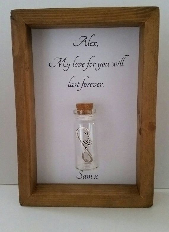 Boyfriend gift, Gift for boyfriend, Romantic gifts, Love you gifts, Infinity gifts. Can be personalised with names or your own message.