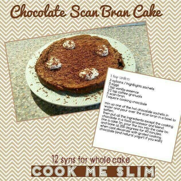 Chocolate scanbran cake