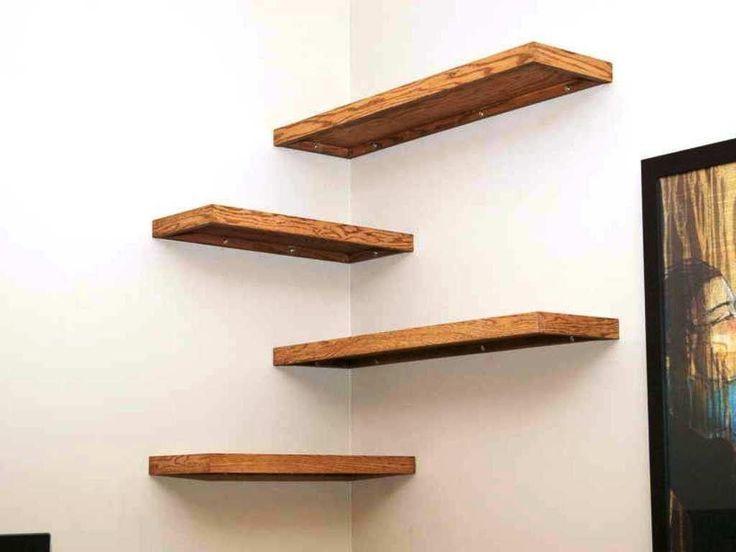 39 Superb Corner Floating Shelves Ideas For Your Room Corner In 2020 With Images Bookshelves Diy Floating