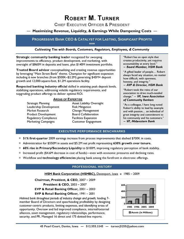 award winning ceo sample resume ceo resume writer executive resume writer