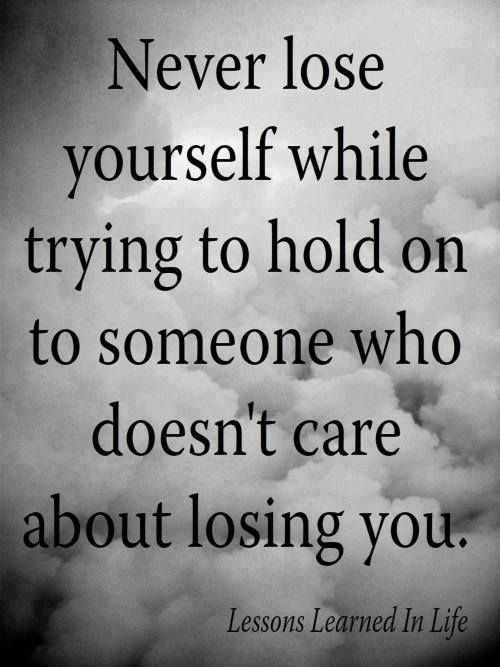 "for those victims of narcissists ""who doesn't care about losing you"" and places you on the back burner of disrespect."
