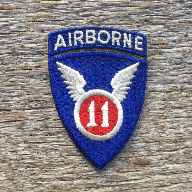 Vintage World War II U.S. 11th Airborne Patch by tincanvintage on Etsy https://www.etsy.com/listing/484523859/vintage-world-war-ii-us-11th-airborne