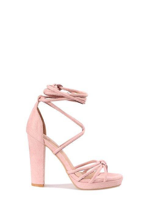Faites des jalouses dans ces sublimes sandales à talons hauts roses. Sobres et sexy,