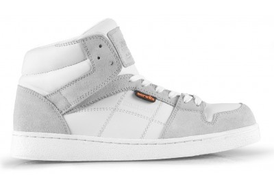 #Scruffs Asteroid Safety Trainers (White) Sizes 7-12. Asteroid is a hi-top safety trainer with steel toe and composite midsole that provides complete anti-penetration protection. Fitted with eye-catching double stitched contrast panels and an integral shock absorbing inner sole to reduce foot fatigue – it's the complete style and safety combination. Price: £41.95 (VAT not applicable)