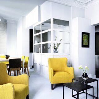 Un salon design minimaliste en deux couleurs