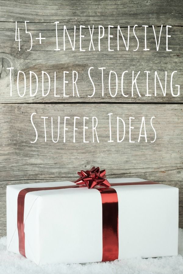 Here are 45+ Inexpensive stocking stuffers for toddlers -  I think any toddler would be THRILLED to get some of these cute toys.