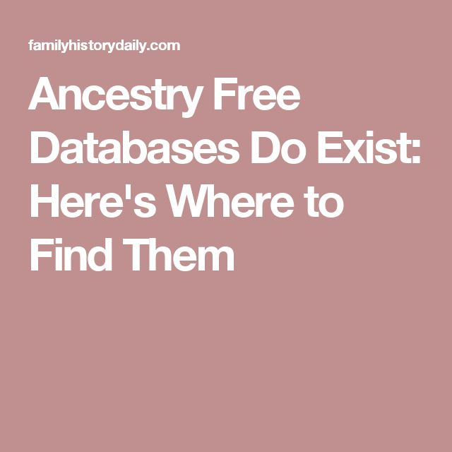 Ancestry Free Databases Do Exist: Here's Where to Find Them