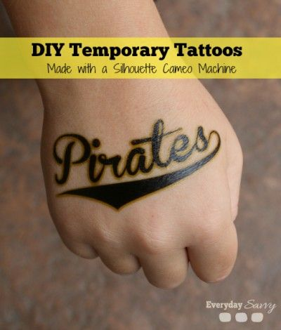 Diy fun temporary tattoos made with a silhouette cameo for Temporary tattoo tracing paper