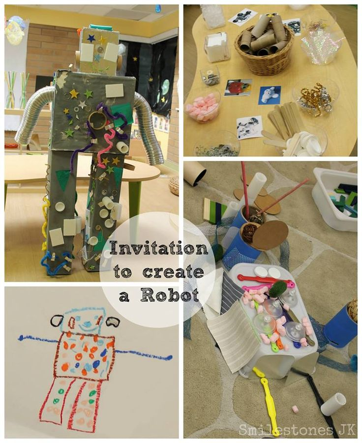 Invitation to create a robot using recycled materials
