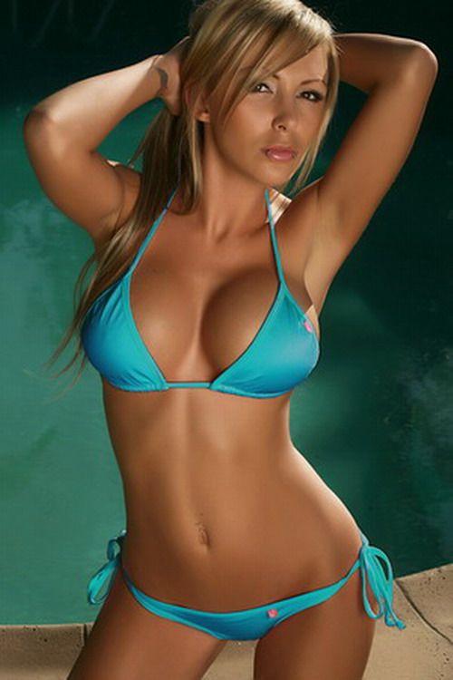with bikini top blue Girl