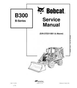 Best download bobcat b300 b series backhoe loader service