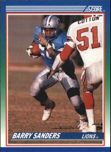 1990 Score #20 Barry Sanders DETROIT LIONS NFL Football Card #DetroitLions